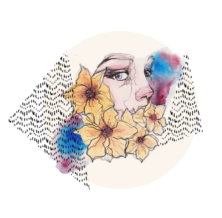 watercolor, patterns, society6 - patchpo | ello