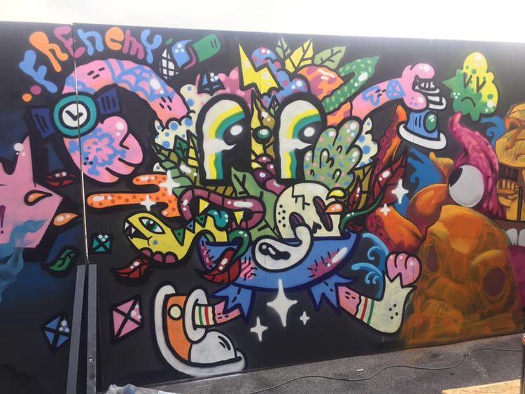 Jungle Jeans painted graffiti j - frenemy | ello