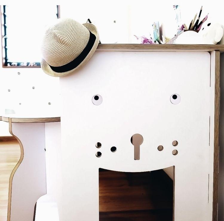 Oskar Bear Table Stool- set par - ekokidspacedin   ello