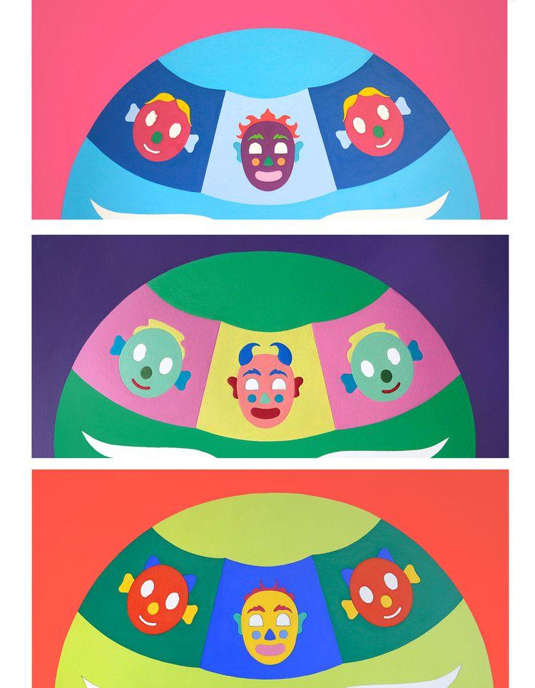 details 3 paintings  - patrou | ello