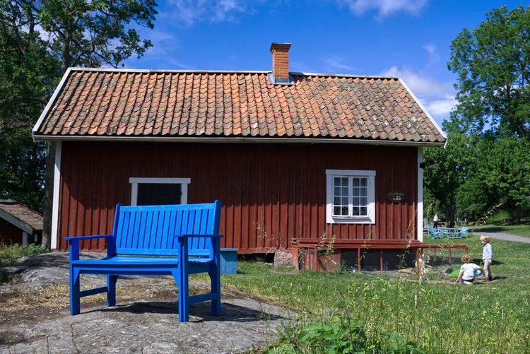 Blue bench - photography, sweden - marcushammerschmitt | ello