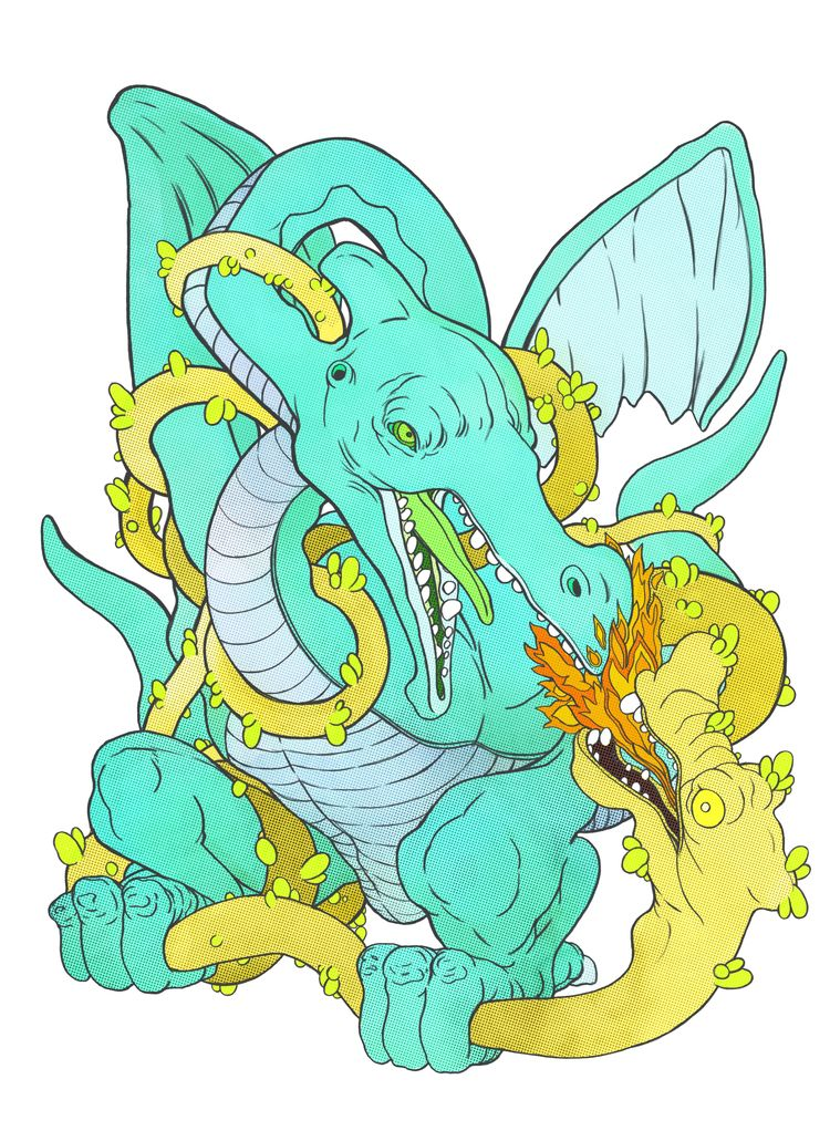 Winged Dino Wyrm: Color Variati - tarikmask67 | ello