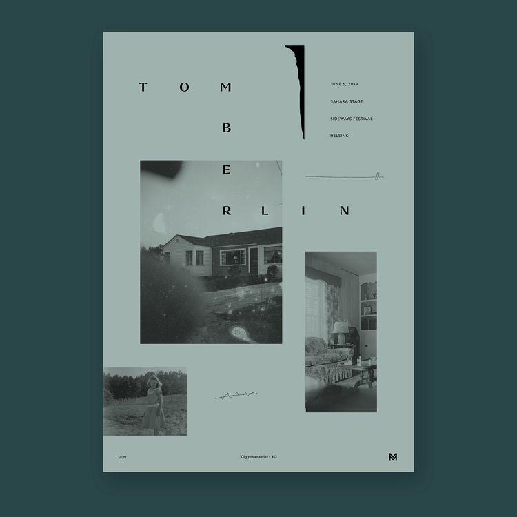 Gig poster project - Tomberlin  - mcinen | ello
