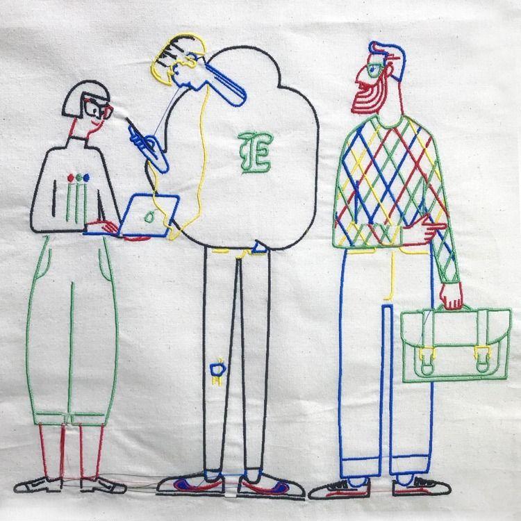Tiny outline family Embroidery  - cesdavolio | ello