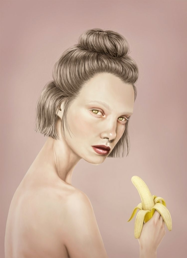 banana. post digital drawing su - annicaklingspor | ello