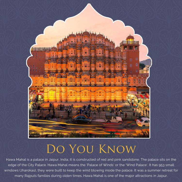 Interesting Facts Hawa Mahal - rajasthantoursindia - rajasthantoursindia | ello