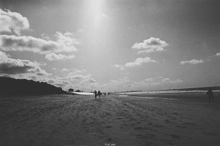 blackwhite, plage, beach, film - ol_sea | ello
