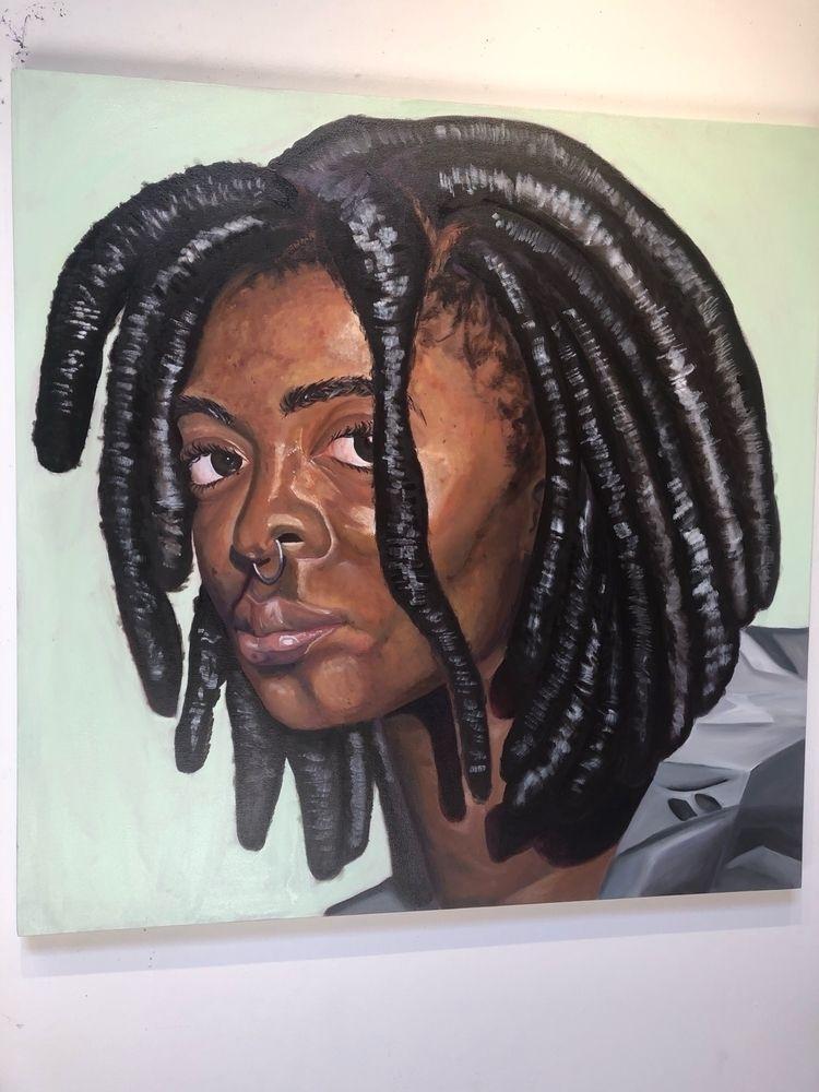 Shar. Portrait. 48 inches. Oil  - sharb__ | ello