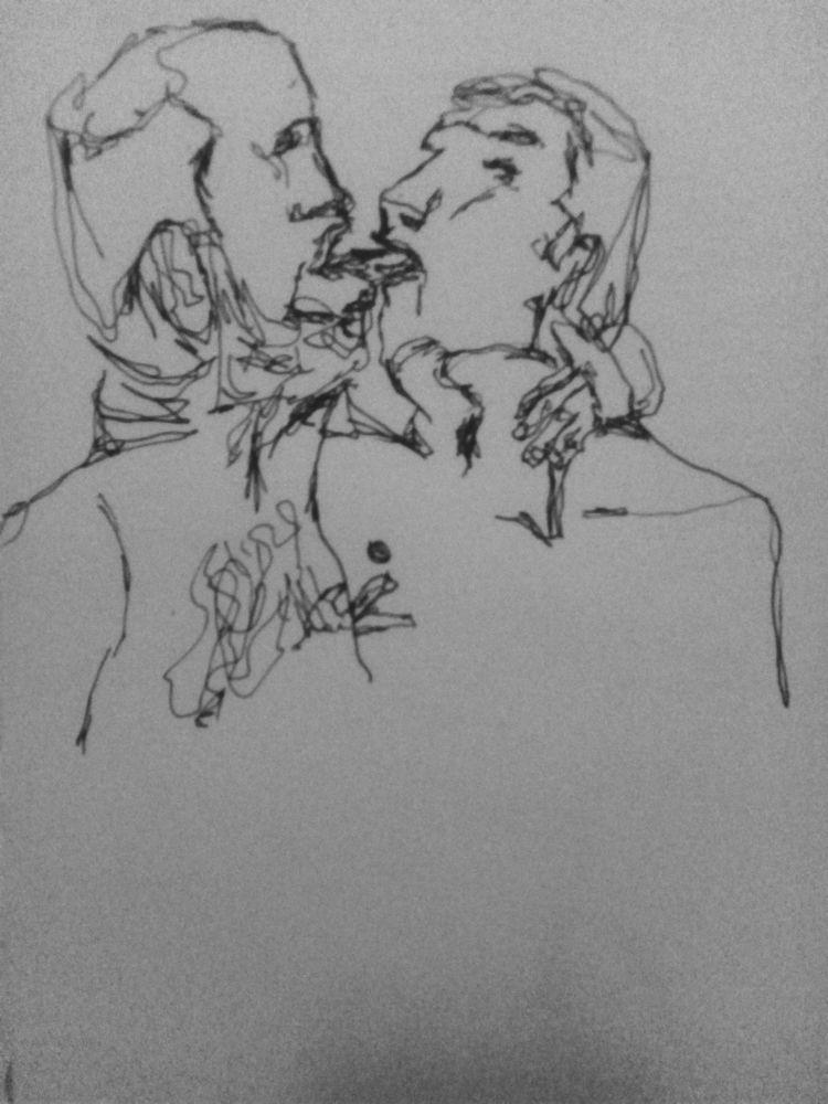 kiss, drawing - faheemabbas | ello