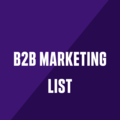 B2B Marketing List (@b2bmarketinglist) Avatar