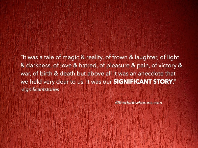 Anshul (@significantstories) Cover Image
