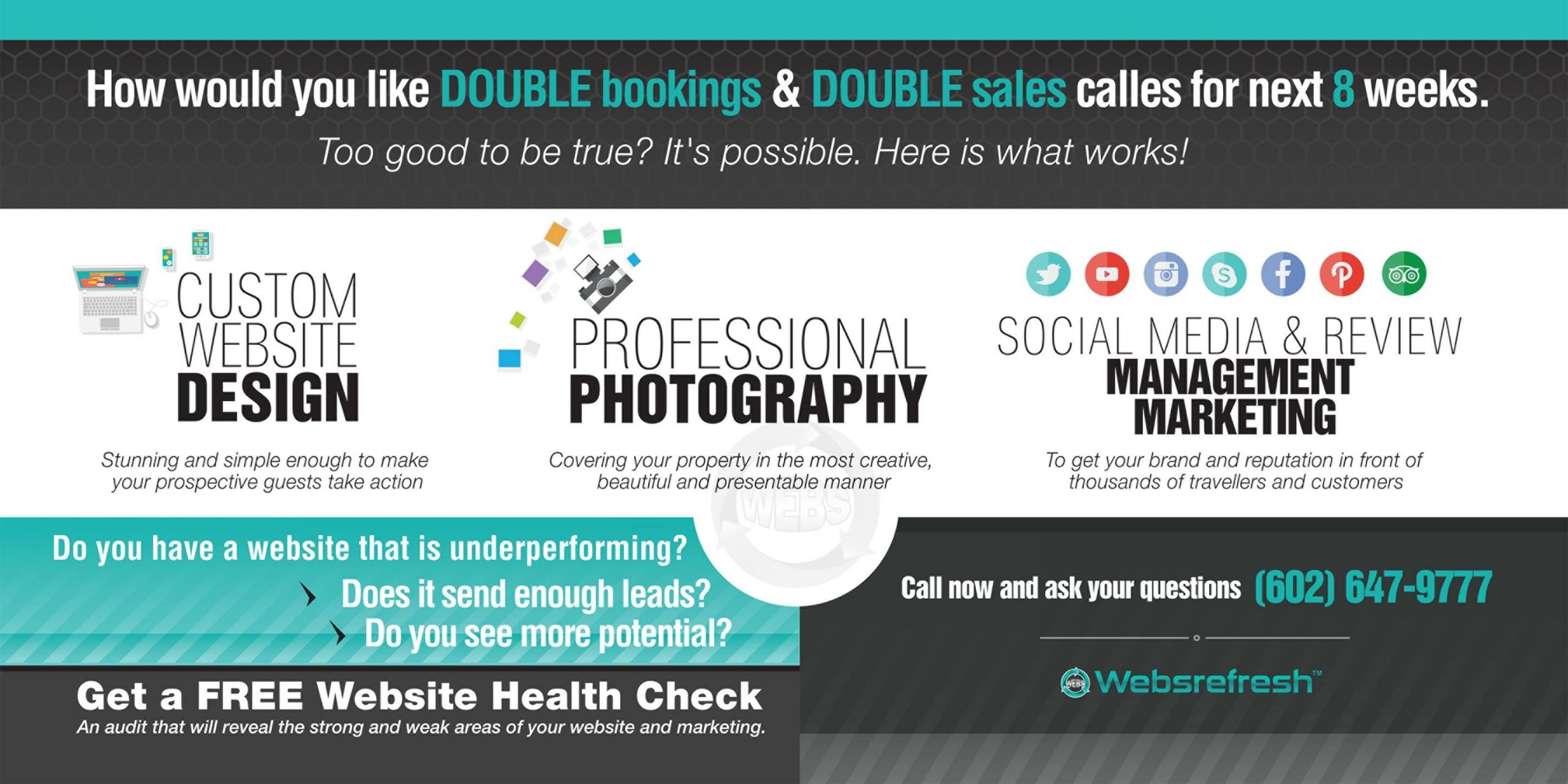 Websrefresh - Hotel digital marketing agency, PHX (@websrefresh) Cover Image