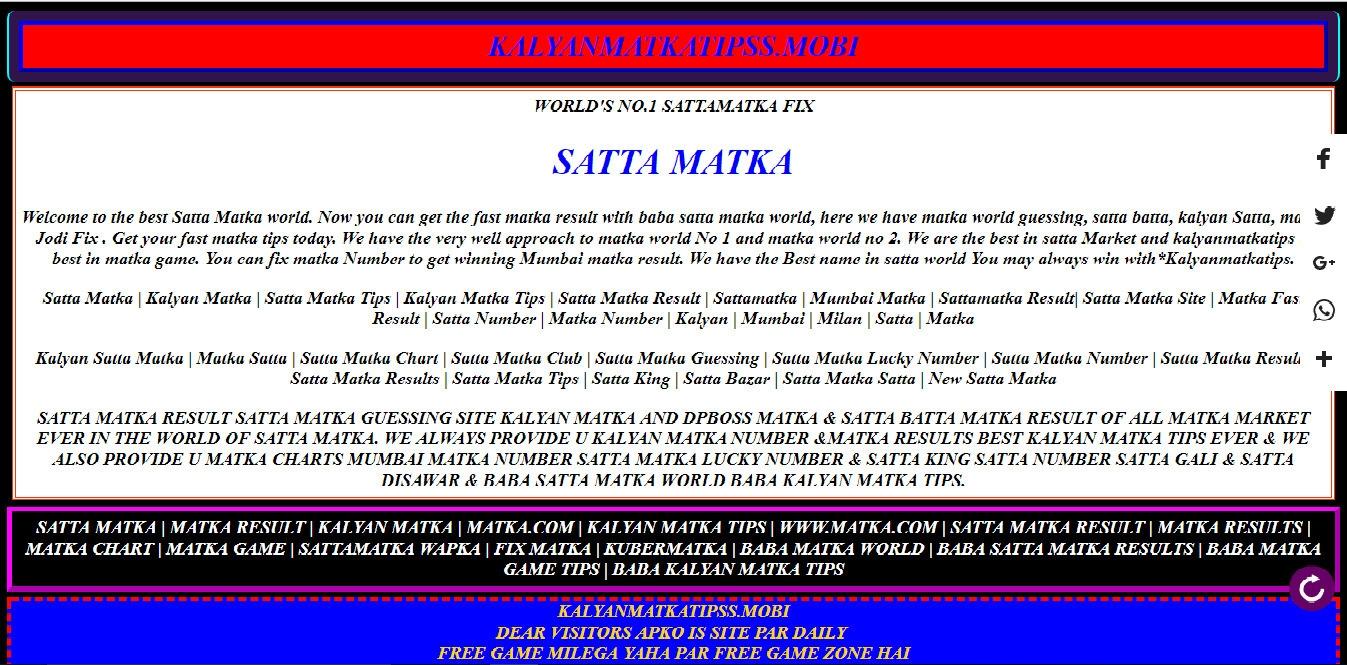 Kalyan Matka (@kalyanmatka) Cover Image