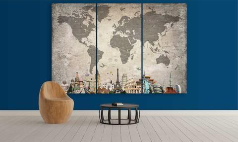 Panel Wall Art - Push Pin World Map (@panelworldmap) Cover Image