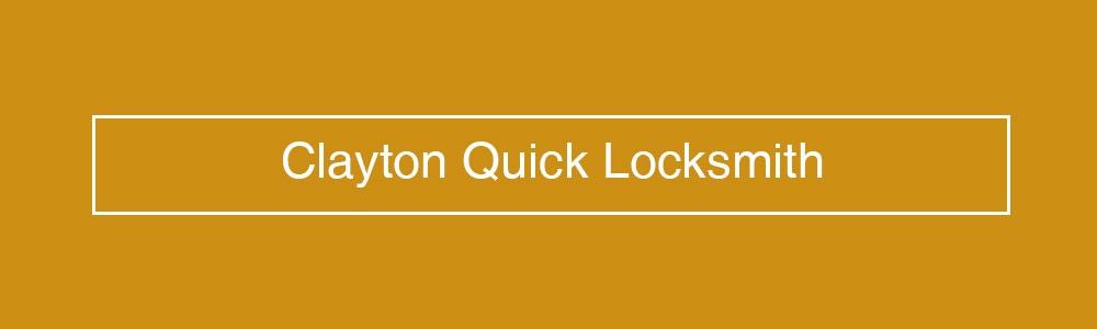 Clayton Quick Locksmith (@claytonlocksmith) Cover Image