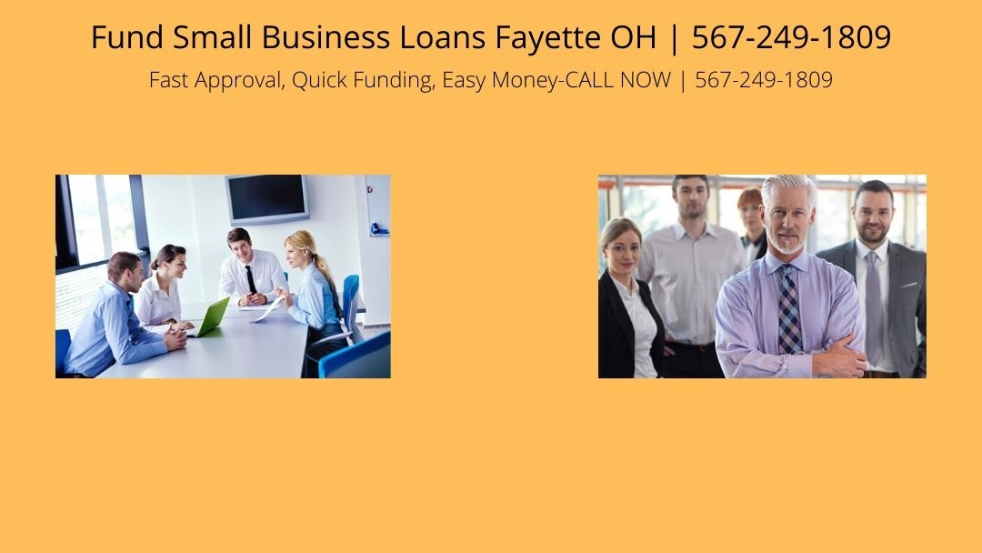 Fund Small Business Loans Fayette OH (@fayetsba) Cover Image
