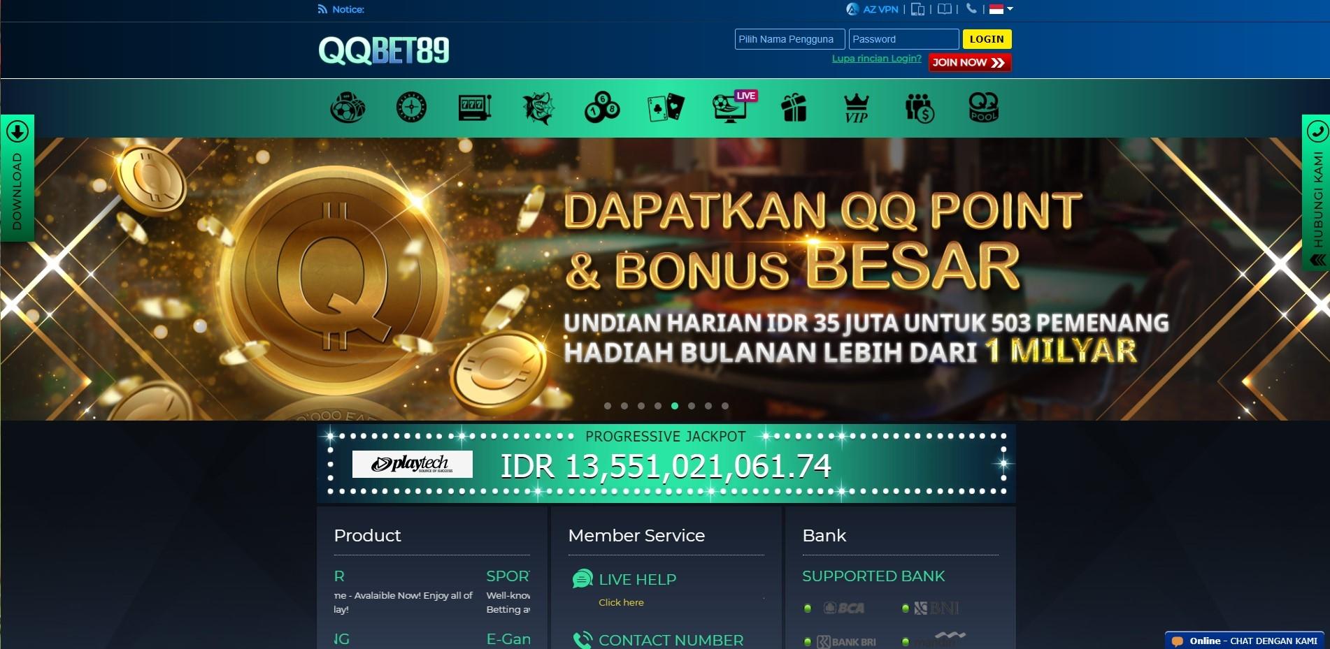 Situs Bandar Judi Slot Online Resmi Terpercaya QQB (@qqbet89) Cover Image