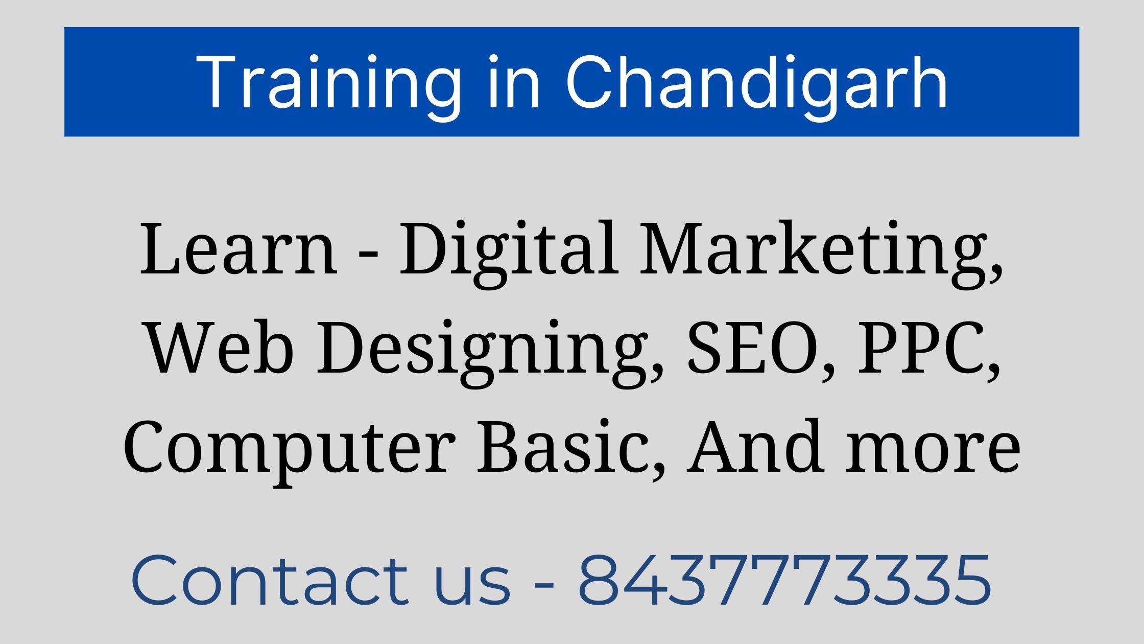 Training in Chandigarh (@traininginchandigarh01) Cover Image