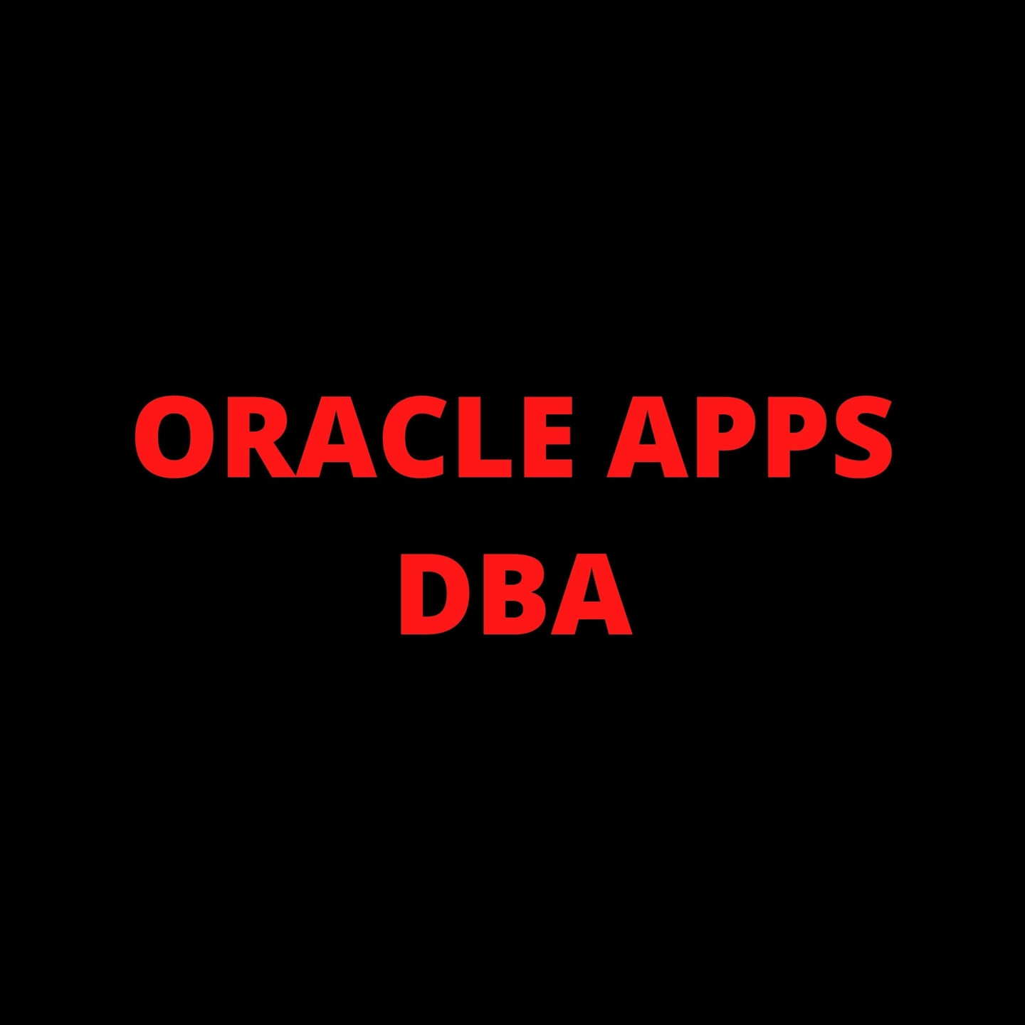 (@oracleappsdba) Cover Image